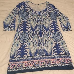 GUC Lilly Pulitzer Blue Beacon Dress, Size XL